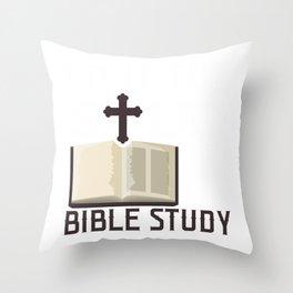 Christian Bible Study Faith Jesus Christianity Throw Pillow