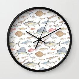 Watercolour fish Wall Clock