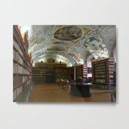 Monastery Library, Prague 2011 Metal Print