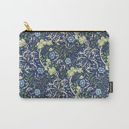 William Morris Blue Daisies Carry-All Pouch