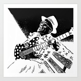 Bluesman Buddy Guy Art Print