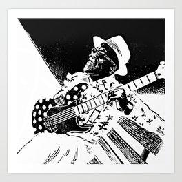 Bluesman Buddy Guy Art Print