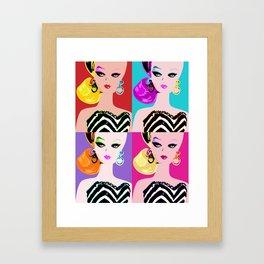 Pop Art Barbie Framed Art Print
