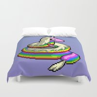 lady Duvet Covers featuring Lady by Naavech Verro