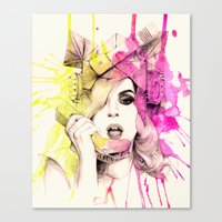 telephone Canvas Prints featuring Telephone by Mibou