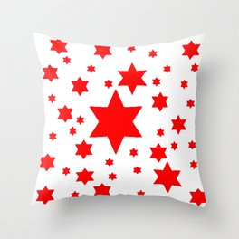 JULY 4TH  RED STARS DECORATIVE DESIGN Throw Pillow