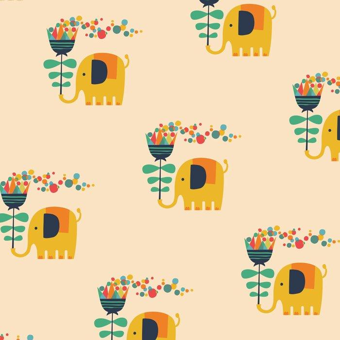 Elephant with giant flower Leggings