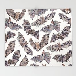 Bat Collection Throw Blanket