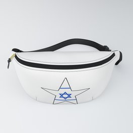 flag of israel 10- יִשְׂרָאֵל ,israeli,Herzl,Jerusalem,Hebrew,Judaism,jew,David,Salomon. Fanny Pack
