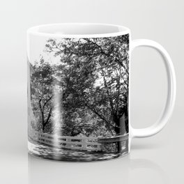 Covered Bridge in Black and White Coffee Mug