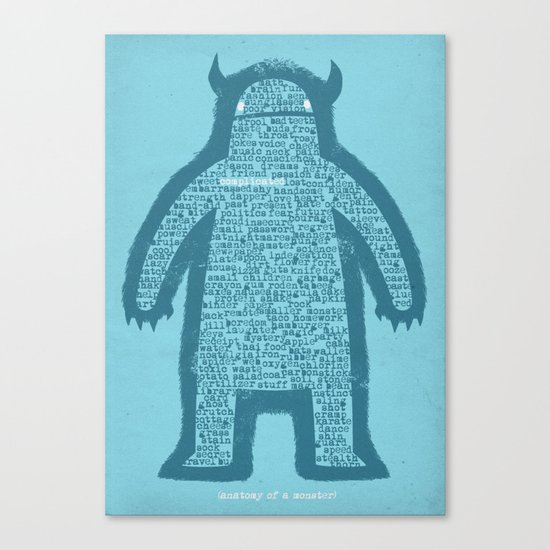 Anatomy of a Monster Canvas Print