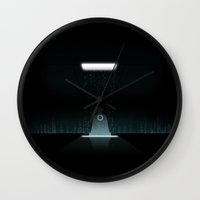 tron Wall Clocks featuring TRON ZEN by The ED13