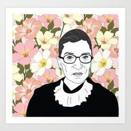 RBG Pink Floral Kunstdrucke