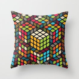 The solved one Throw Pillow