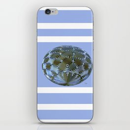 A Blue and Brown Orb iPhone Skin