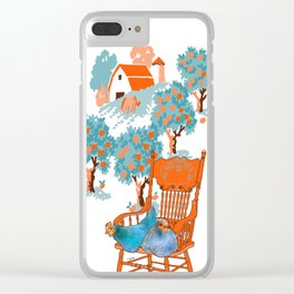 Farm Animals in Chairs #4 Chicken Clear iPhone Case