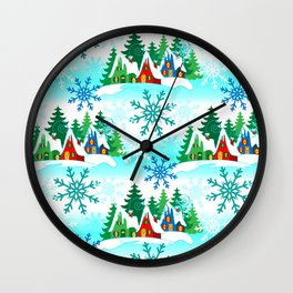 Home for the Holidays Wall Clock