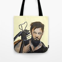 daryl Tote Bags featuring Daryl by Brittany Ketcham