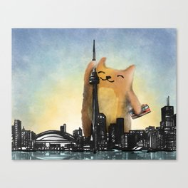 Level Cat Kaiju Canvas Print