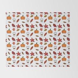 Fall pattern Throw Blanket