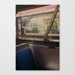 empty bus Canvas Print