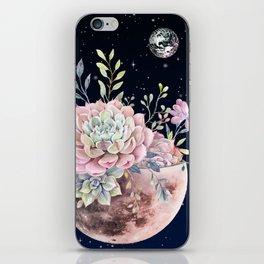 succulent night light iPhone Skin
