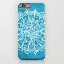 Chic Blue Boho Mandala iPhone Case
