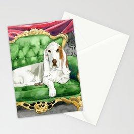Royal Basset Hound Stationery Cards
