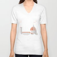 florence V-neck T-shirts featuring FLORENCE ARCADE by TommiGiomi