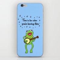 kermit iPhone & iPod Skins featuring Kermit having fun by BlackBlizzard