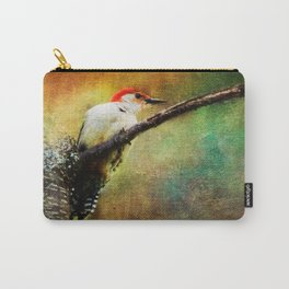 Woodpecker on Cherry Tree ~View 2  Carry-All Pouch
