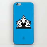 third eye iPhone & iPod Skins featuring Third Eye by Diogo Rueda