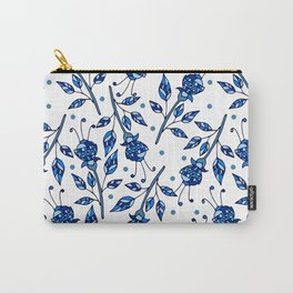 Blue flowers Carry-All Pouch