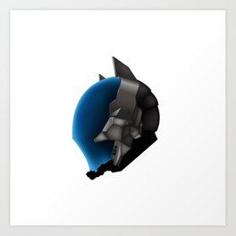Dark Knight's Helm Art Print