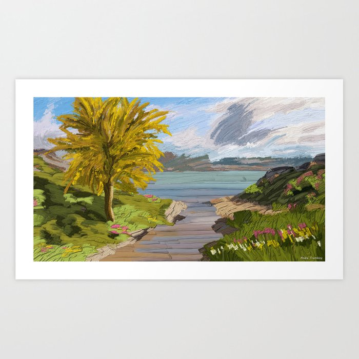 River Ode Art Print