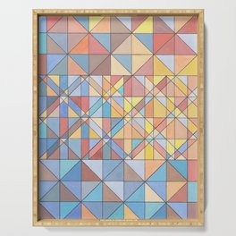 Triangle Pattern no.16 Pastels Serving Tray