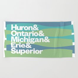 Great Lakes Ampersand Beach Towel