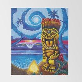 Tiki Moon Throw Blanket