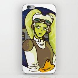 alien pilot mom iPhone Skin