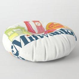 MKE ~ Milwaukee, WI Floor Pillow