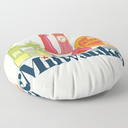 MKE ~ Milwaukee, WI Floor Pillow