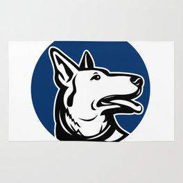 German Shepherd Dog Looking Up Mascot Rug