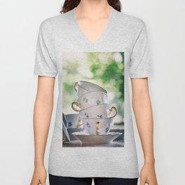 Tea Cups Unisex V-Neck