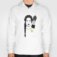 katniss Hoodies featuring Iconic Katniss by Arne AKA Ratscape