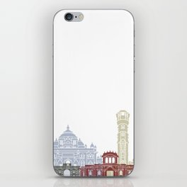 Ahmedabad skyline poster iPhone Skin