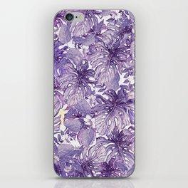 Tropical Foliage # Purple iPhone Skin
