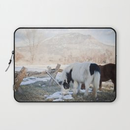 mini horses and a view Laptop Sleeve