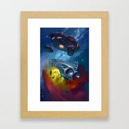 Disaster in Deep Space Framed Art Print