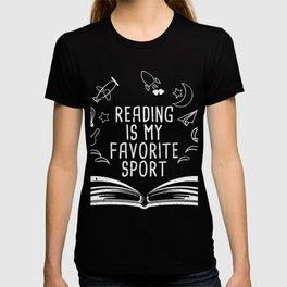 Reading Is My Favorite Sport T-Shirt Bookworm Tee T-shirt