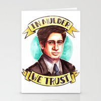 mulder Stationery Cards featuring In Mulder We Trust by Tiffany Willis